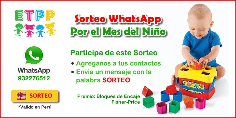 Sorteo WhatsApp Mes del Niño