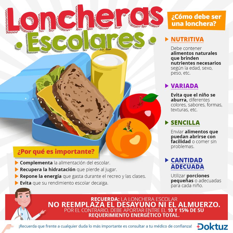Loncheras nutritivas para niños de 2 a 5 años