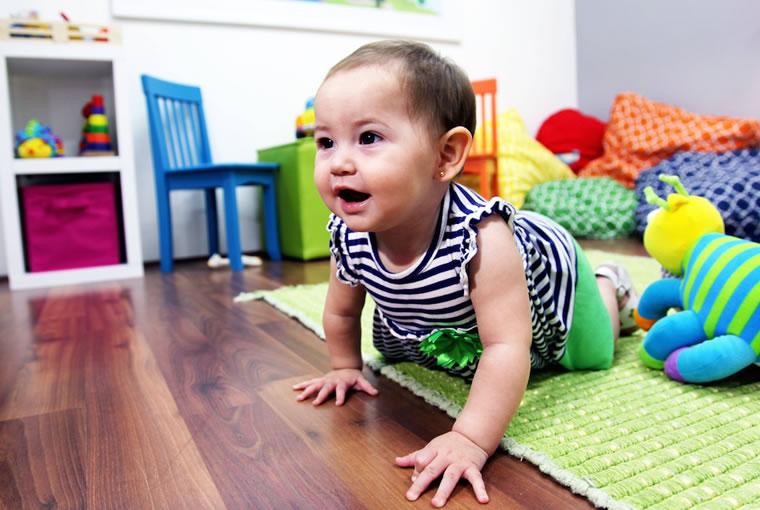El Desarrollo del Movimiento en los bebés