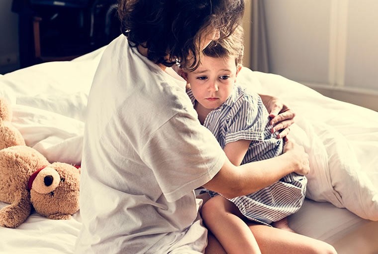 Pesadillas en bebés y niños